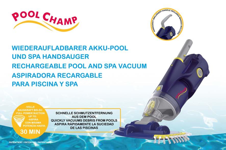 Art.Nr. 35010 PoolChamp Akku-Pool-SPA-Handsauger
